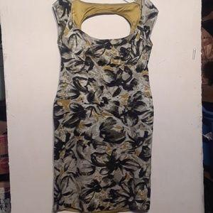 Jessica  Simpson open back camouflage  dress